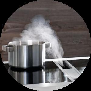 beste inductie kookplaten met afzuiging