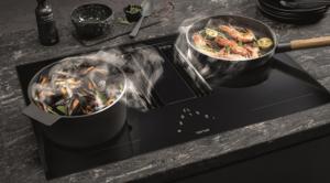 Berbel inductie kookplaat met afzuiging