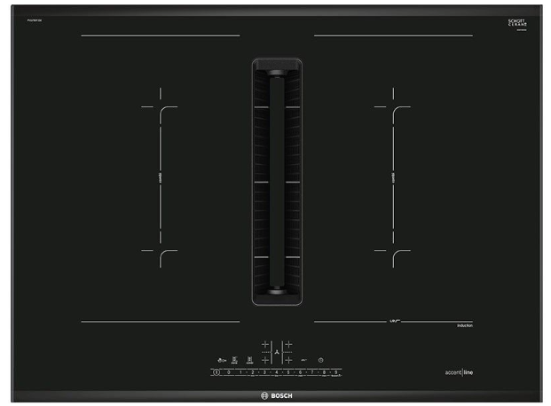 Bosch PVQ795F25E inbouw inductiekookplaat met geïntegreerde afzuiging