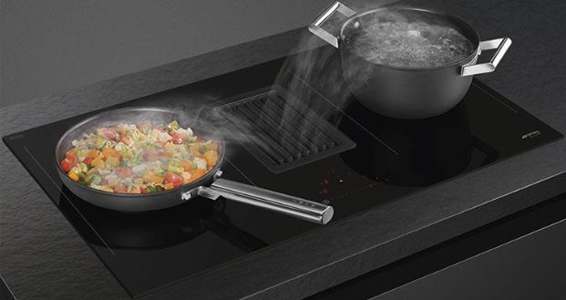 SMEG Inductie kookplaat met afzuiging